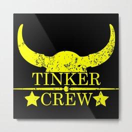 Tinker crew wild west emblem yellow Metal Print