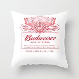 Budweiser Can Label T-Shirt Throw Pillow