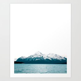 Abraham Lake, Alberta (Lake Level) Art Print