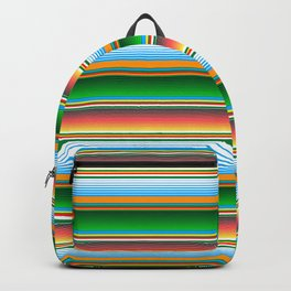 Mexican Serape Horizontal Lines Colorful Pattern  Backpack