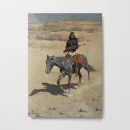 """Frederic Remington Western Art """"Apache Scout"""" Metal Print"""
