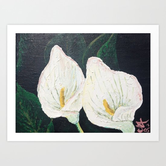 Calla Lily Winter Lilly Lily Lilies Lillies White Art Print By Anoellejay Society6