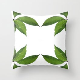 Mesmerizing Nature | Leafy Frame Up Throw Pillow