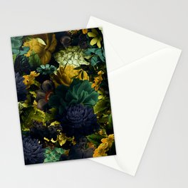 melancholy flowers big seamless pattern 01 tension green Stationery Cards