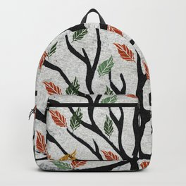 Last Autumn Leaves Watercolor Backpack