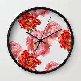 vintage floral Wall Clock