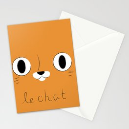 Le Chat (Orange) Stationery Cards