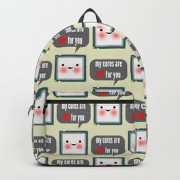 Cute blushing CPU My cores are hot for you Backpack