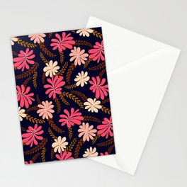 FLORAL SPREAD - NAVY BLUE Stationery Cards