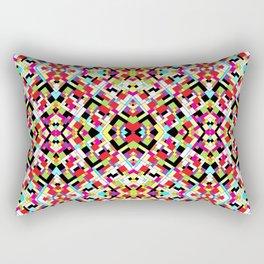 Colorful Abstract Mosaic Design Rectangular Pillow