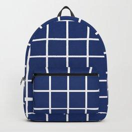 Navy Grid Pattern 2 Backpack