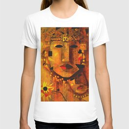 Indigenous Inca Tribal Sapa Inca, Son of the Sun portrait painting by Ortega Maila T-shirt