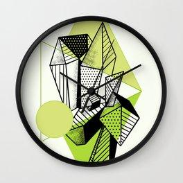 Crystal City Green Moon Wall Clock