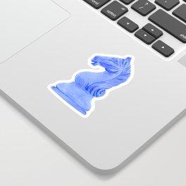 Blue Knight Chess Piece Sticker