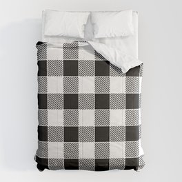 Buffalo Check - black / white Comforters