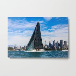 Winter Yachting on Sydney Harbour. Australia Metal Print