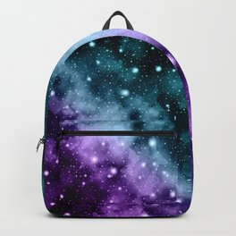 Purple Teal Galaxy Nebula Dream #3 #decor #art #society6 Backpack