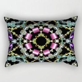 Bling Jewel Kaleidoscope Scanography Rectangular Pillow