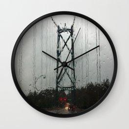 Raining Again Wall Clock