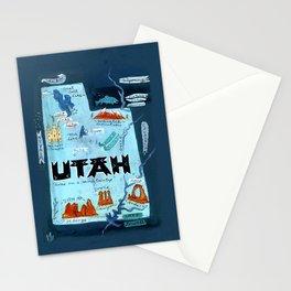UTAH map Stationery Cards