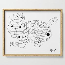 Joan Miro El Gato The Cat Artwork for Prints Posters Tshirts Men Women Kids Serving Tray