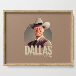 Dallas - J.R. Ewing Serving Tray