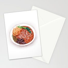 Watercolor Illustration of Chinese Cuisine - Liuzhou River Snails Rice Noodle | 螺蛳粉 Stationery Cards
