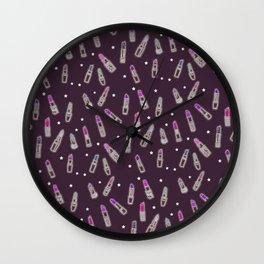 Lipstick Junkie Wall Clock