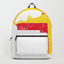 Distressed Guernsey Map Backpack