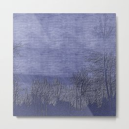 Pen Dusk Landscape | Nadia Bonello Metal Print