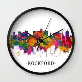 Rockford Illinois Skyline Wall Clock