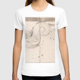Johann Bayer - Uranometria / Measuring the Heavens (1661) - 47 Piscis Australis / Southern Fish T-shirt