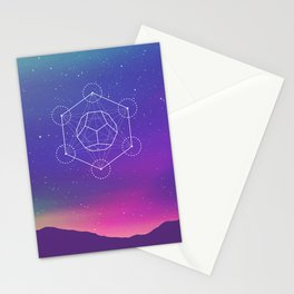 Dodecahedron Stationery Cards