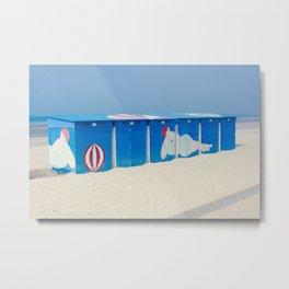Beach cabins Metal Print