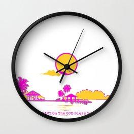 Pop-Art Premiere Home Drip Decorations - Paradise 2021 Trending Mood #Respectfully LAKER THEME Wall Clock