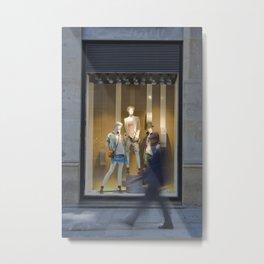 Store window Metal Print
