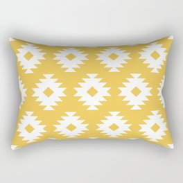 Southwestern Pattern 424 Yellow Rectangular Pillow
