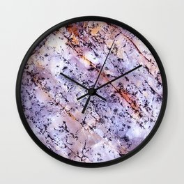 Rose Quartzite Detail with Marble Effect Wall Clock