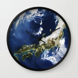 MODIS on the Aqua satellite captured this stunning view of Japans four largest islands on February 2 Wall Clock