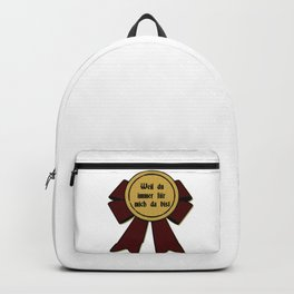 Medal, Because you are there, Thank you, Statement Love Backpack