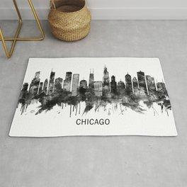 Chicago Illinois Skyline BW Rug