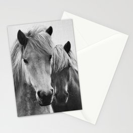 Horses - Black & White 7 Stationery Cards