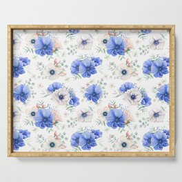 Blue Meadow 2 Serving Tray