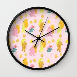 Mountain climbers - Pink Wall Clock