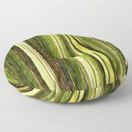 green beige brown yellow abstract striped digital design Floor Pillow