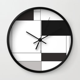 De Stijl Revival in Black Wall Clock