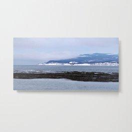 Tourelle In Winter White Metal Print