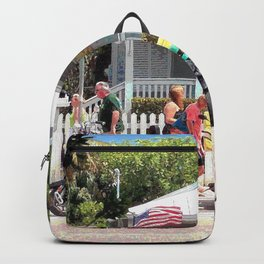 Motor Bikes and Picket Fence Backpack