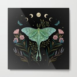 Luna and Forester Metal Print
