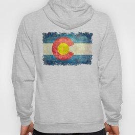Colorado State flag, Vintage retro style Hoodie